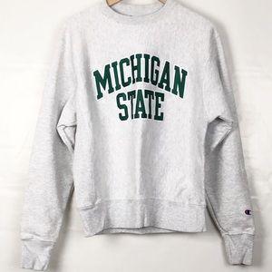 Michigan State Champion Crewneck Sweatshirt Sz Med